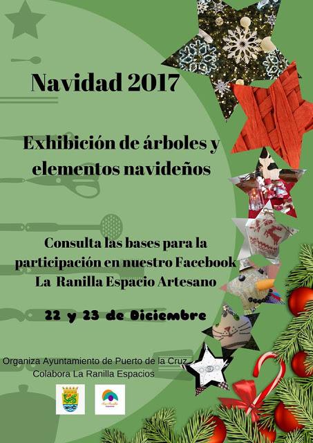 Exhibición Árboles de Navidad Creativos en la Calle Mequinez de Puerto de la Cruz