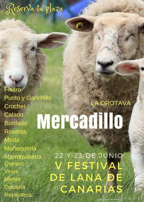 Registro convocatoria de Artesanos para mercadillo del V Festival de Lana de Canarias