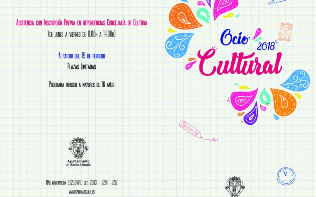 Esta vez La Ranilla Espacios con la programación de Ocio Cultural de Santa Úrsula (talleres y charlas). Reserva ya tu plaza.