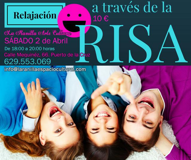 Taller de RELAJACIÓN A TRAVÉS DE LA RISA. Sábado 2 de Abril