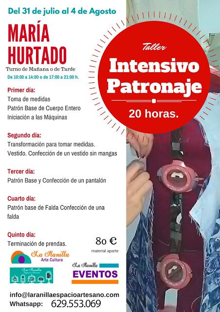 Talleres intensivos de Patronaje y Pintura Sobre Seda en La Ranilla Espacio Artesano. Imparte María Hurtado.