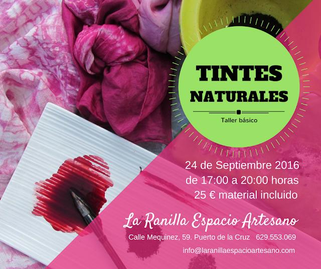 Taller de tintes naturales en La Ranilla Espacio Artesano. Imparte Nathalie Leturcq.