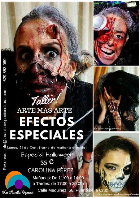 Taller de Efectos Especiales (Especial Halloween) en La Ranilla Arte Cultura.