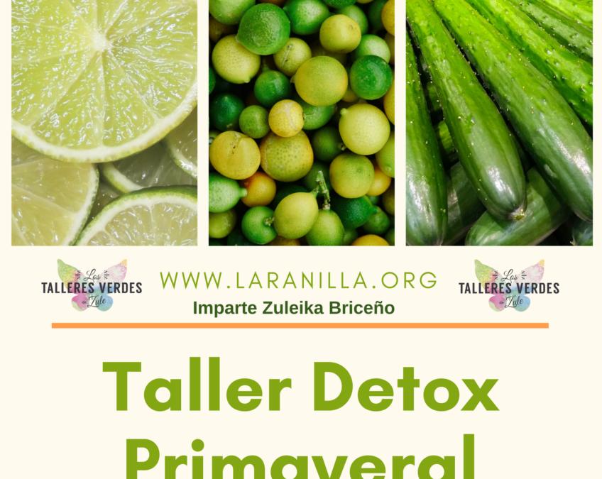 26 de Mayo, taller con Zuleika Briceño: Detox Primaveral.