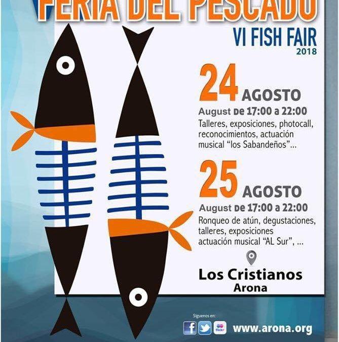 VI Feria del Pescado. Arona. Bases de participación concurso a la mejor croqueta de Pescado.