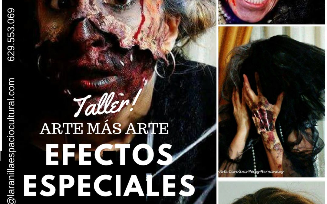 Terrorífico el taller de caracterización esta tarde en La Ranilla Arte Cultura