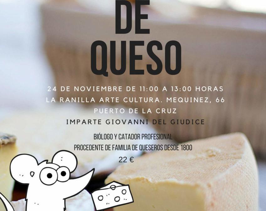 Taller de elaboración de queso en La Ranilla Espacio Cultural. 24 de noviembre