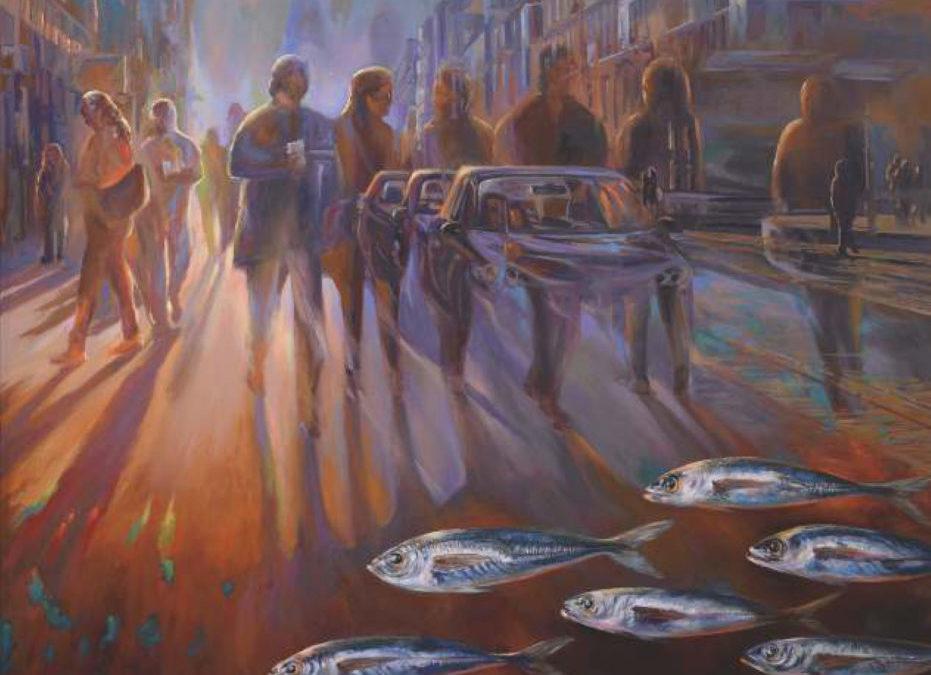 «A dónde vamos», es el título de la obra que protagoniza la exposición de Celestino Mesa en La Ranilla Espacios a partir del 4 de Marzo 2019.